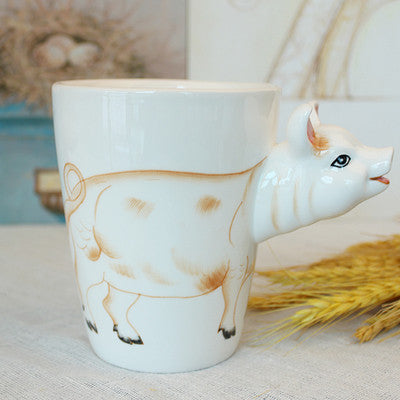 Handpainted 3D Animal Head Mug - 13.5oz - Animal Mugs - Mugdom Coffee Mugs
