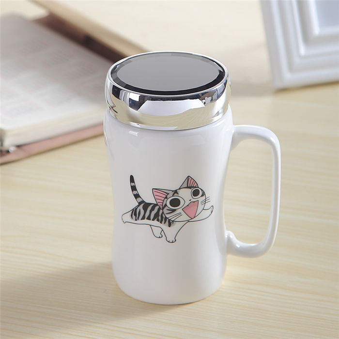 Anime Characters Mug w/Lid - 15.2oz - Mugdom Coffee Mugs