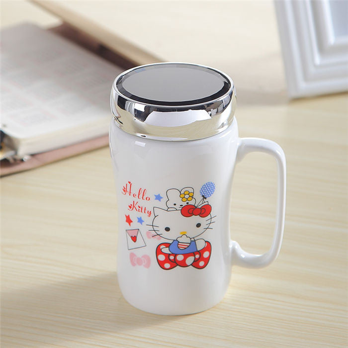 Limited Edition - Anime Characters Mug w/Lid - 15.2 oz - Mugdom Coffee Mugs