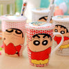 """Crayon Shin-chan"" Lidded Mug w/FREE Spoon - Anime Mugs - Mugdom Coffee Mugs"