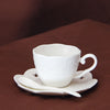 """Cameo White"" Bone China Teacup Set - Tea Set - Mugdom Coffee Mugs"