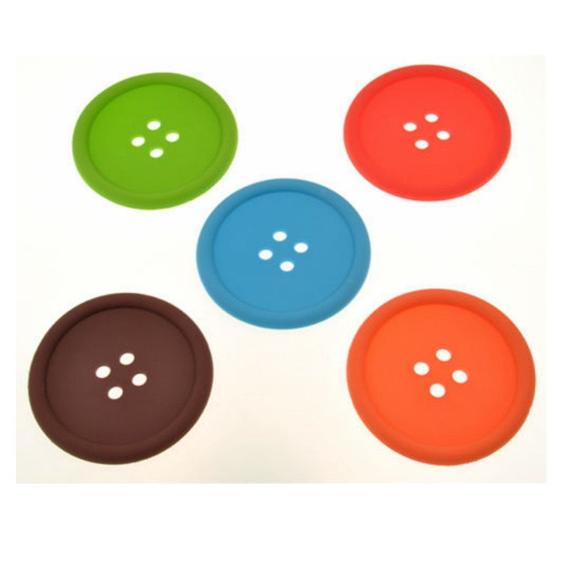 Silicone Button Coaster - Coffee Tool - Mugdom Coffee Mugs