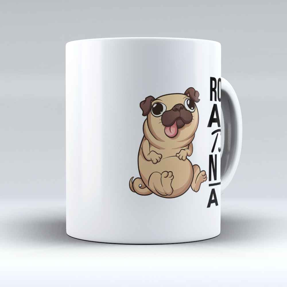 "Limited Edition - ""Rolls Are The New Abs"" 11oz Mug - Pug Mugs - Mugdom Coffee Mugs"