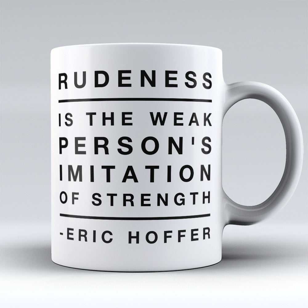 "Limited Edition - ""Imitation Of Strength"" 11oz Mug - Inspirational Quotes Mugs - Mugdom Coffee Mugs"