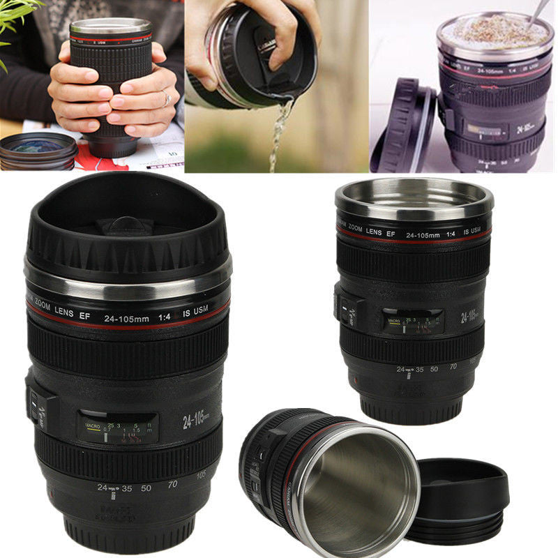 "Stainless Steel ""24-105mm Camera Lens"" Thermos - Mugdom Coffee Mugs"