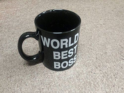 "Limited Edition - ""World's Best Boss - Middle Finger "" 11oz Black Mug - Funny Mugs - Mugdom Coffee Mugs"