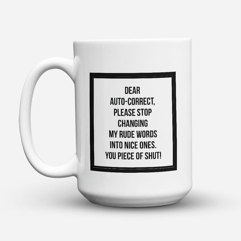 "Limited Edition - ""My Rude Words"" 15oz Mug - Funny Mugs - Mugdom Coffee Mugs"