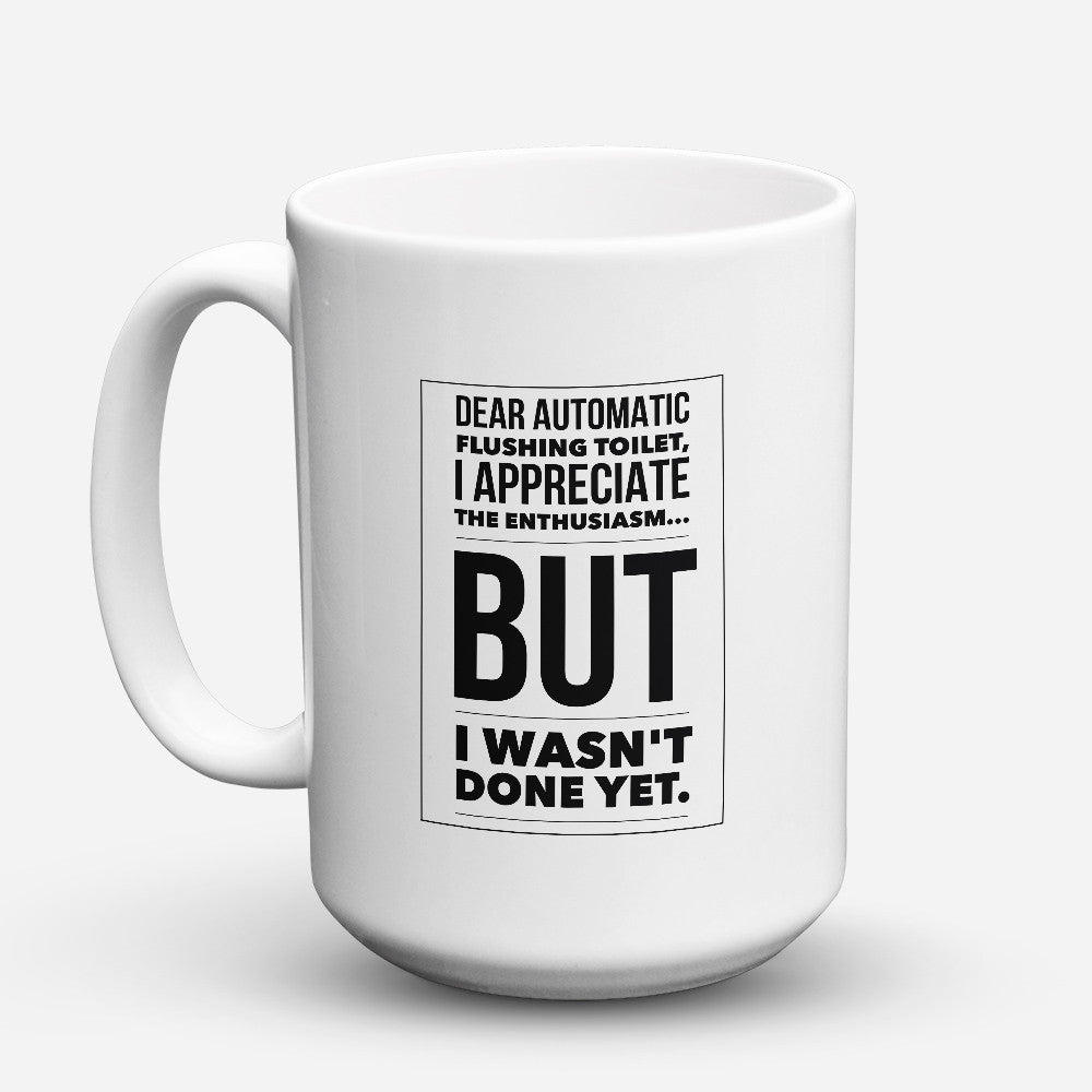 "Limited Edition - ""Flushing Toilet"" 15oz Mug - Funny Mugs - Mugdom Coffee Mugs"