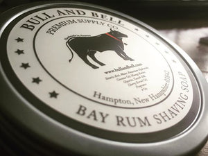 Bay Rum Tallow Soap Label Close-Up