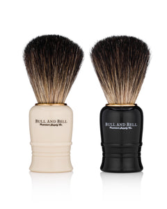 Bull and Bell Black and White Starter Shave Brushes