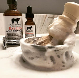 Bull and Bell Premium Shave Brush in a Bowl