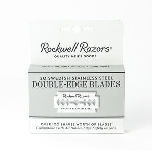 Rockwell 20 Pack Double Edge Blades (Safety Razor)