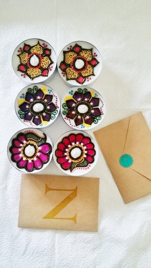 "2 1/4"" Henna Tealight Sets - Vanilla"