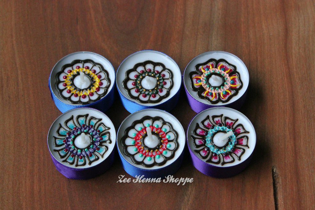 "1 1/2"" Henna Tealight Sets"