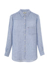 Isa Linen Shirt Blue/white från LEXINGTON hos MIKARA