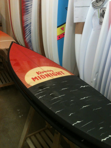 custom corporate company logo surfboard