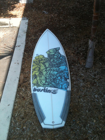 custom company branded logo surfboard