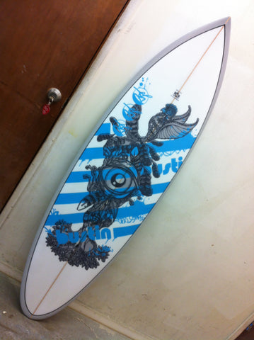 custom corporate business logo surfboard
