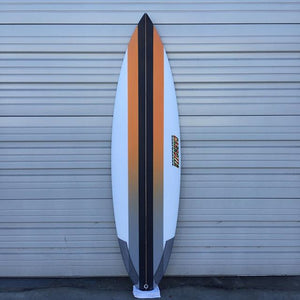 high performance round tail surfboard