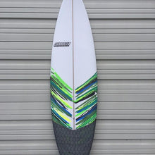 custom artwork surfboard with carbon tail