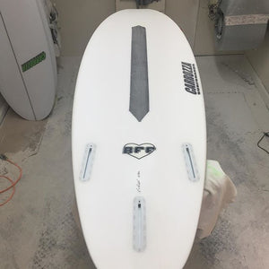 stringerless eps epoxy short board with carbon strip