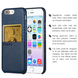 TRAKK POCKET Woven Leather Credit Card Case for iPhone 7 Plus