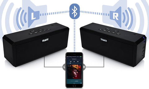 TRAKK DUO 40W True Wireless Technology Dual Boombox Speakers