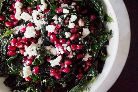 kale salad pomegranate