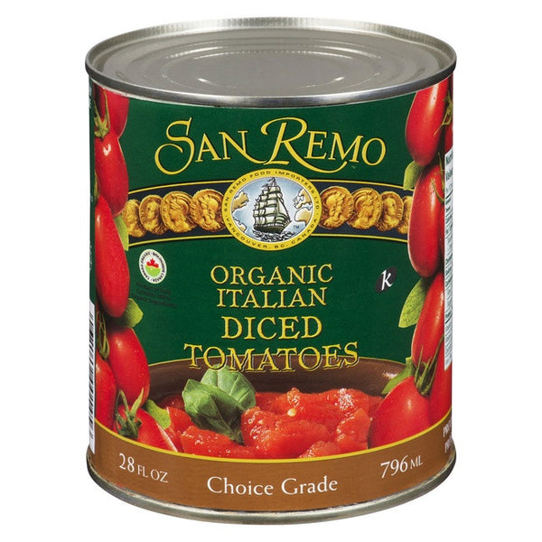SAN REMO ORGANIC ITALIAN DICED TOMATOES 796ML - Kikis Delivery