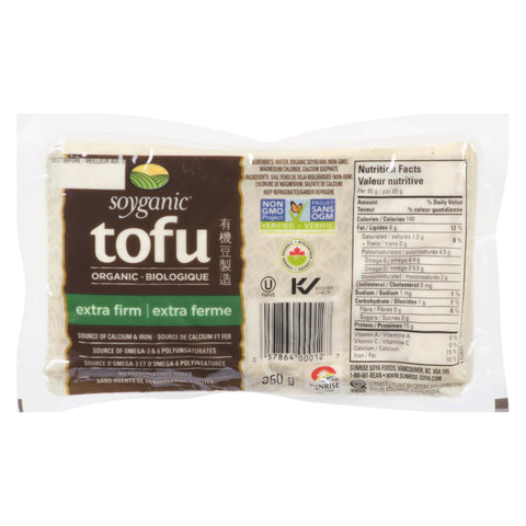Soyganic Organic Tofu Extra Firm 350g - Kikis Delivery