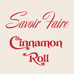 Image of Cinnamon Roll and Savoir Faire fonts