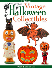 John Andrew on the cover of Vintage Halloween Collextibles Book by Ledenbach.