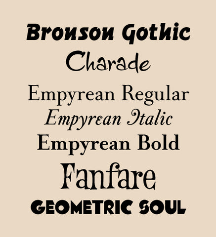 New fonts added 05-04-2016