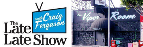 Scriptorama Tradeshow used on Craig Ferguson's Logo and on The Viper Room sign.