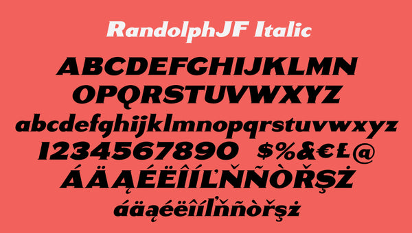 Sample of Randolph Italic