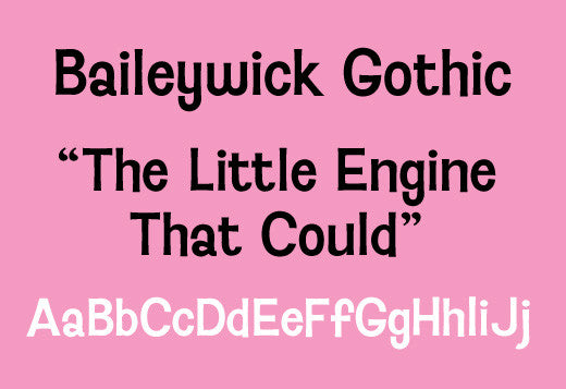 Sample of Baileywick Gothic
