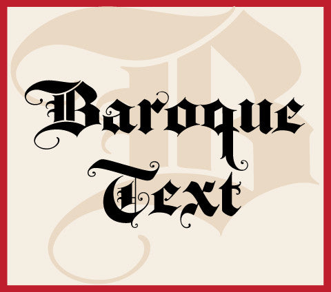 Baroque Text Banner