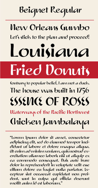 Beignet Regular Type Specimen