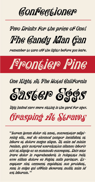Confectioner Type Specimen