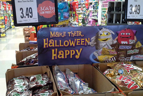 Funny Bone used by Mars/M&Ms for their Halloween Display 2014