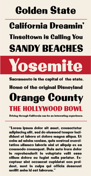 Golden State Regular Type Specimen