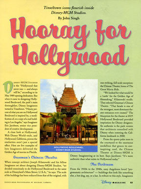 Hucklebuck used for article in The Disney Magazine