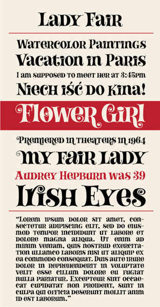 Lady Fair Type Specimen