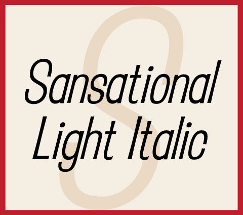 Sansational Light Italic Banner