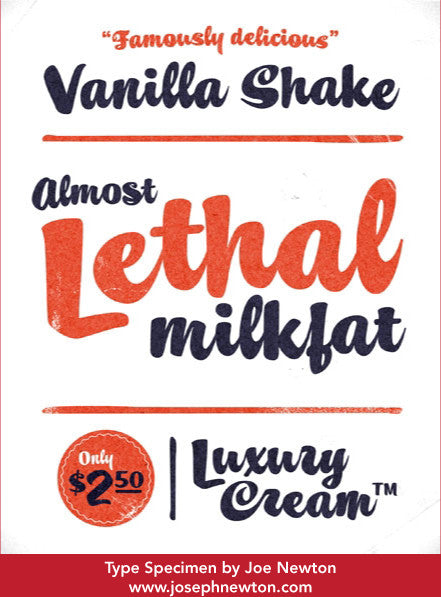 Sample of Vanilla Shake
