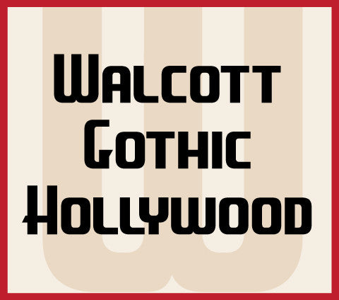 Walcott Gothic Hollywood Banner