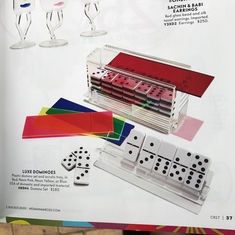 Luxe Dominoes - El Catire Domino Set with Racks NEIMAN MARCUS