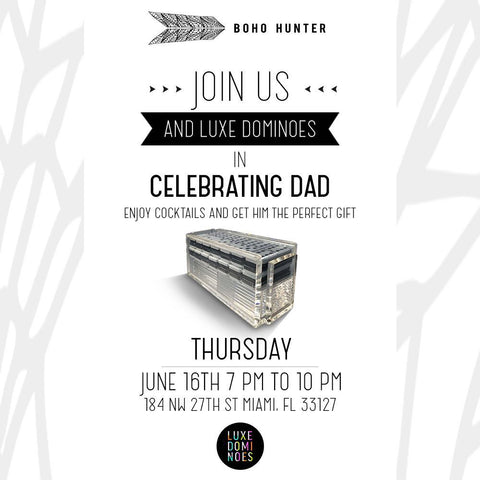 Luxe Dominoes Launch Party Fathers Day Boho Hunter