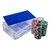 """La Ficha"" Luxe Poker Chip Set - Blue"