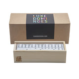 """El Woody"" Domino Set - Clear"
